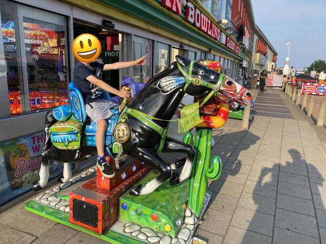 Skegness is famous for its donkey rides, but other equines are available
