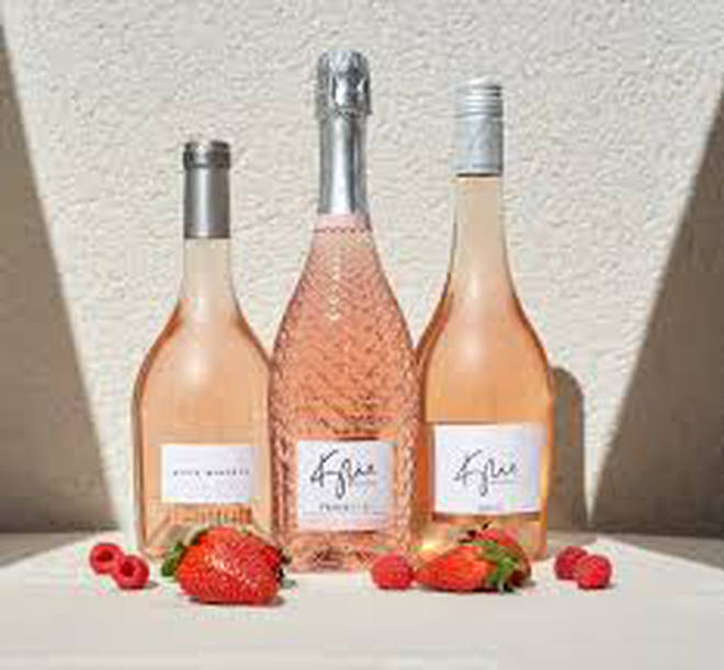 Kylie's Rose Prosecco (centre) is great for enjoying in a bubble bath, or with pals on a night out