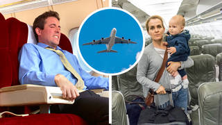 The man said he had a bad flight after denying the family the opportunity to all sit together in one row (file photo)