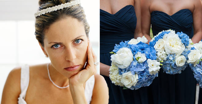 The bride has caused quite a stir online (stock images)