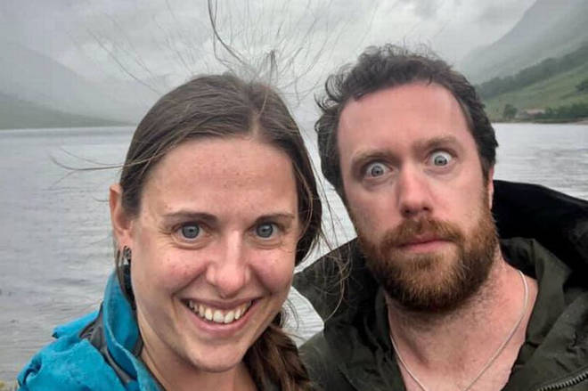 The couple have issued a warning after spotting their static hair in a photo