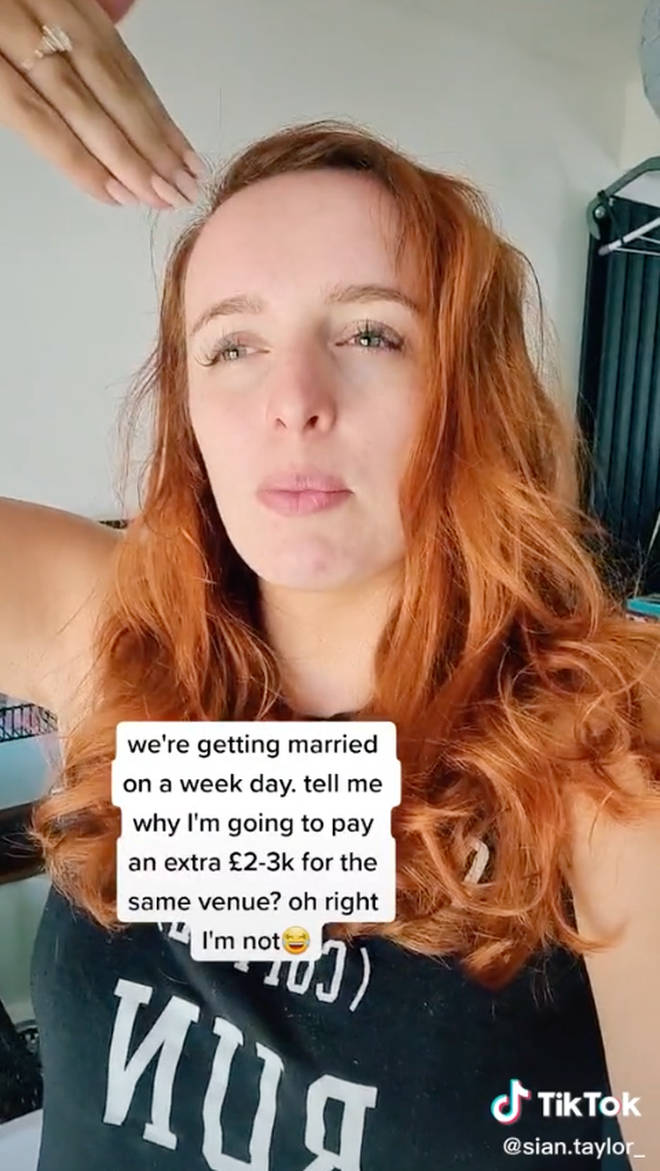 Sian revealed she'll be skipping on a number of popular wedding traditions