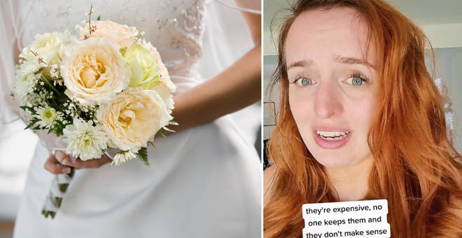 The woman explained how she'll be saving money on her wedding day (left: stock image)