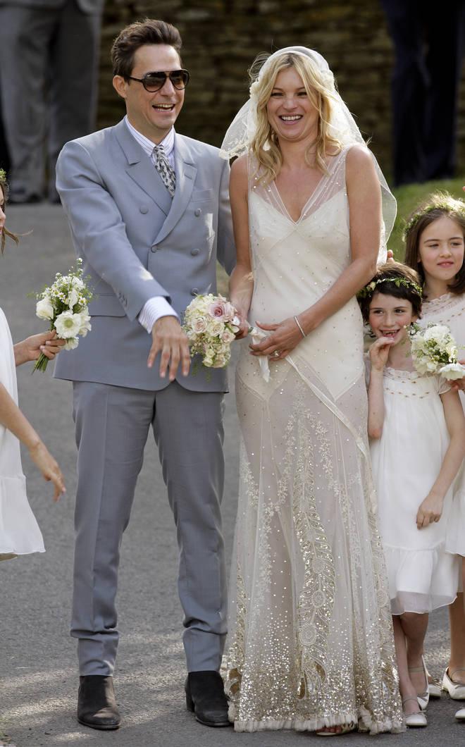 Kate Moss celebrates her wedding to Jamie Hince