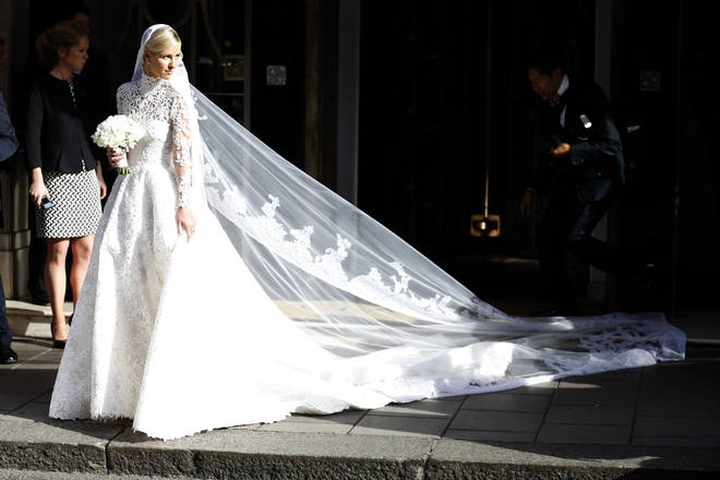 Nicky Hilton leaves her hotel ahead of her wedding to James Rothschild in London