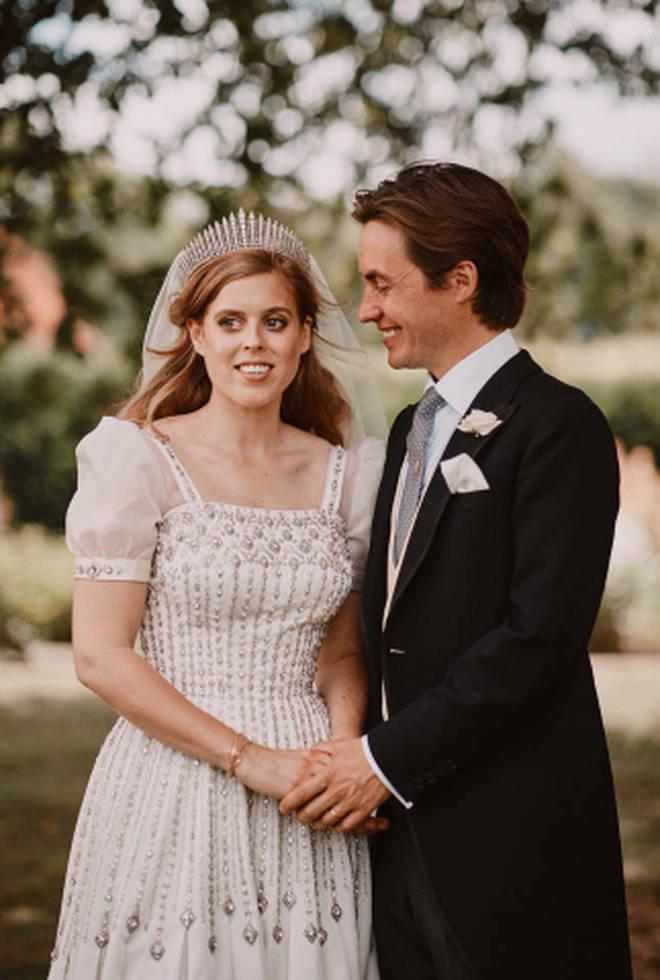 Princess Beatrice wears the Queen's dress to wed Edoardo Mapelli Mozzi