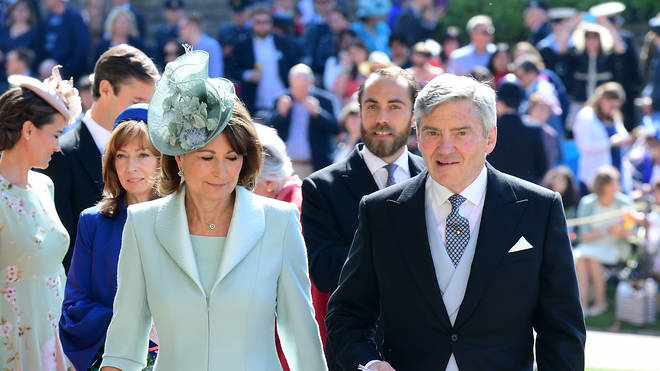 Carole and Michael Middleton attend the wedding of Prince Harry and Meghan Markle