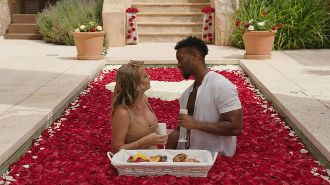 Faye and Teddy go on an epic Love Island date