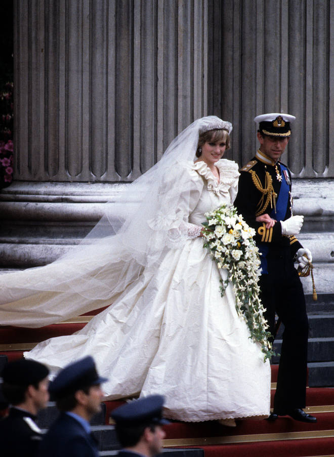Diana's wedding gown was designed by David and Elizabeth Emanuel