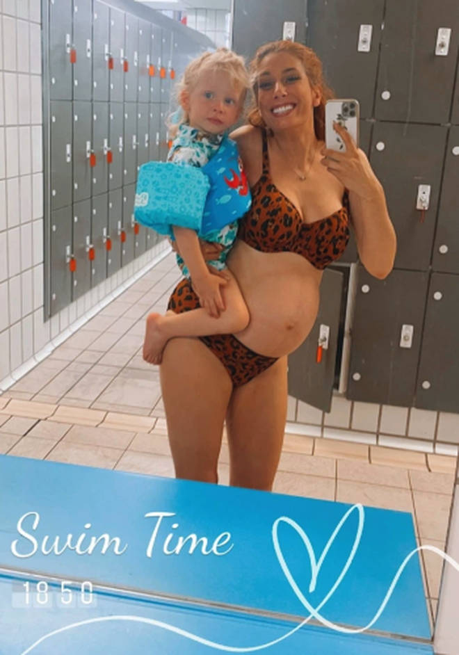Stacey Solomon hired out a whole swimming pool