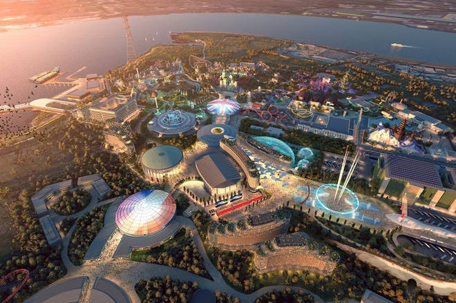The £3.6billion project would include a huge theme park