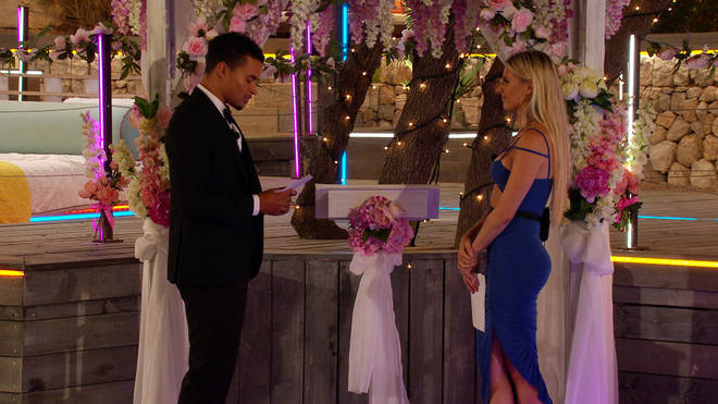 Toby has something he wants to ask Chloe in the Love Island final
