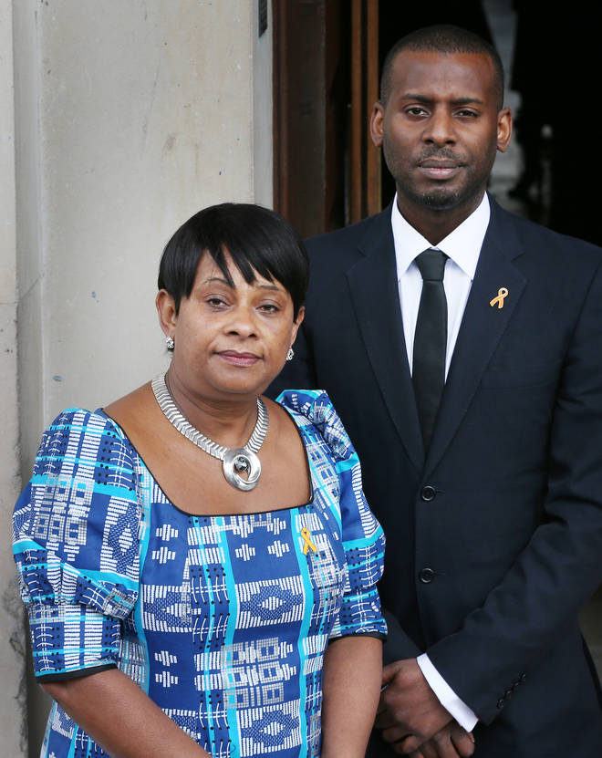 Stephen Lawrence's mum Doreen and his brother Stuart