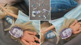 Victoria was horrified to find the cut-up £20 notes