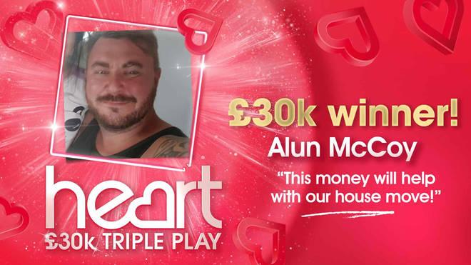 Alun McCoy thought he had won £300!