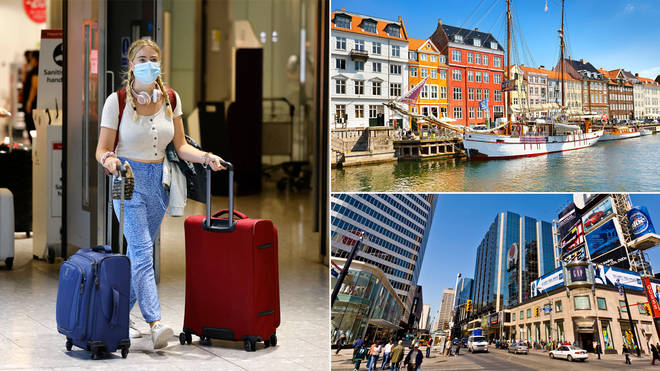 Canada and Denmark have been added to the travel green list