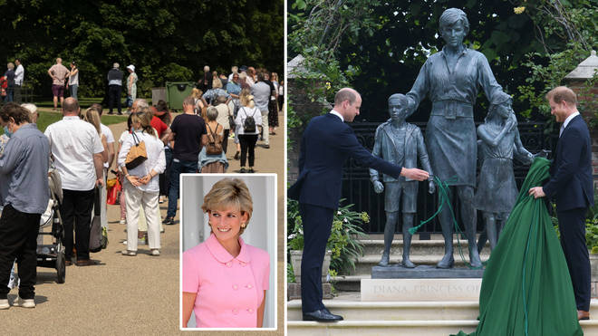 Princess Diana's memorial statue will be open to public viewing from next week