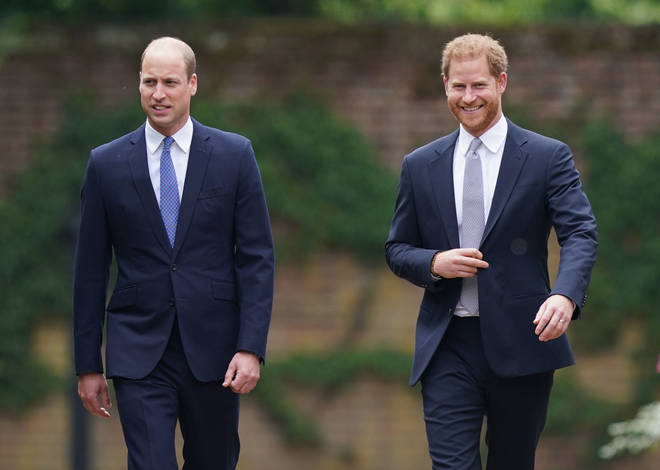 Prince Harry and Prince William reunited for the revealing of the Diana statue in July this year