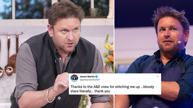 James Martin took to Twitter to thank A&E staff
