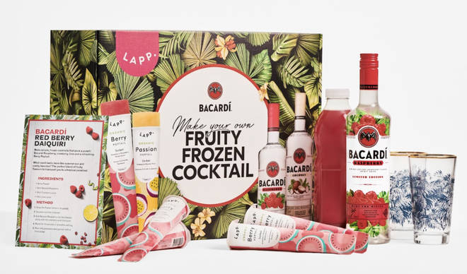 The kit comes frozen so you can make cocktails immediately