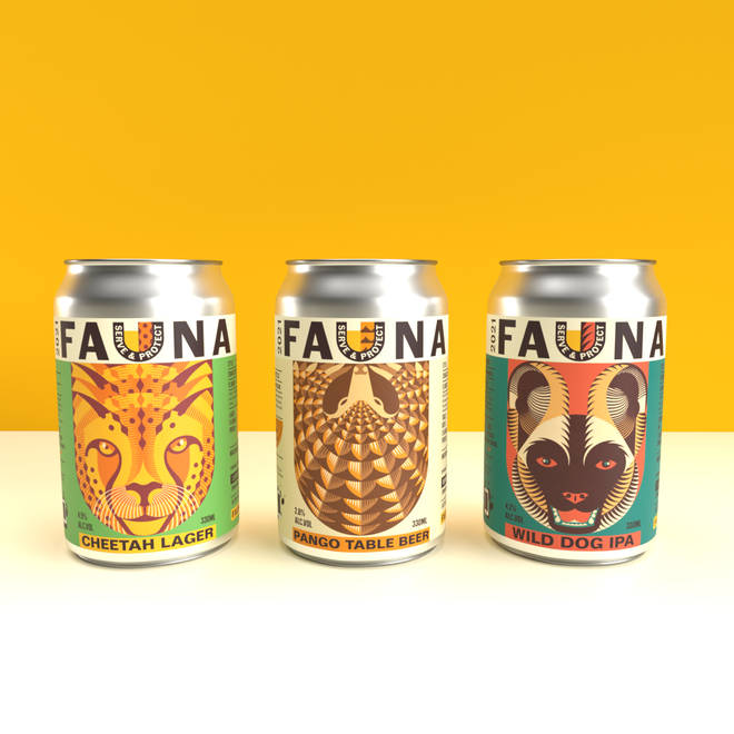 The beers raise money for charities helping African wildlife
