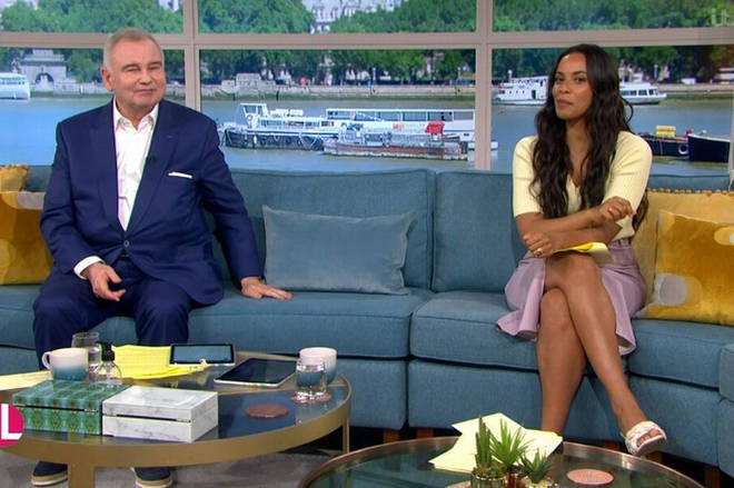 Eamonn Holmes and Rochelle Humes are presenting This Morning