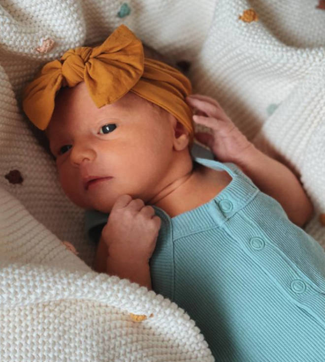 Zoella has shared a photo of her baby Ottilie