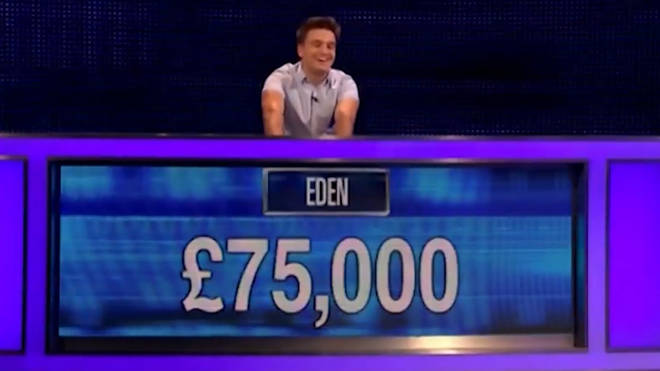 Eden won £75,000 on The Chase