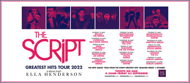 The Script are heading off on a huge tour in 2022