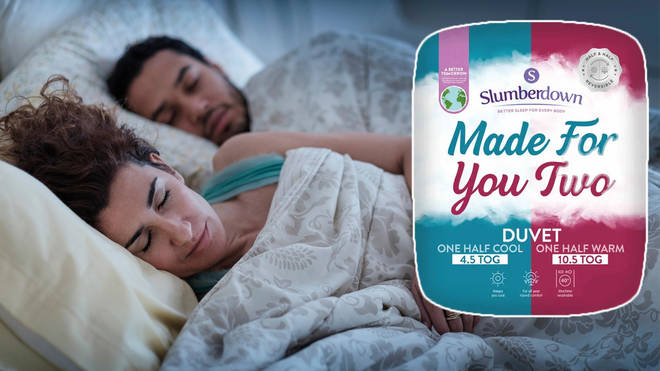You can now buy a half-cold half-warm duvet