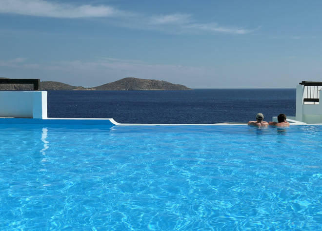 An infinity pool at the TUI Sensimar Elounda Village Resort