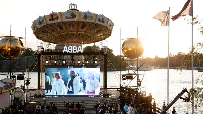 Abba announced the news in a special conference which aired in Stockholm