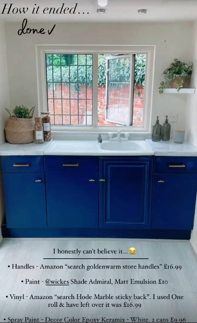 Stacey Solomon transformed her kitchen for £63
