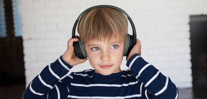 The headphones have been designed to be extra comfy for kids