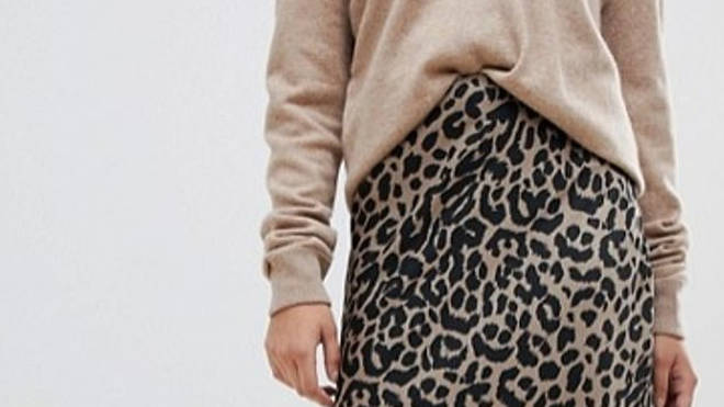 ec55e9061c1a ASOS's cheap take on this season's must-have leopard print midi ...