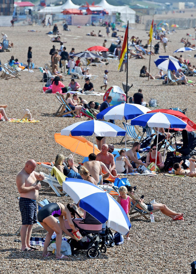 The heatwave is due to end on Wednesday