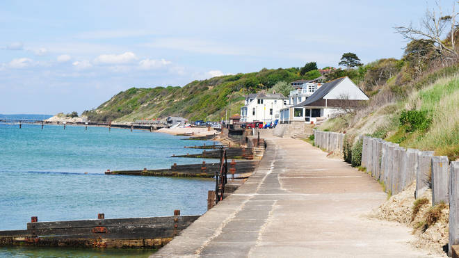 Enjoy a beautiful coastal walk along Totland Bay
