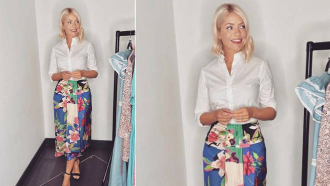 Holly Willoughby's skirt is from Zara today