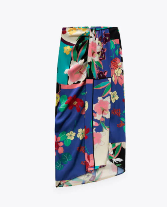 Holly's floral skirt is from Zara today