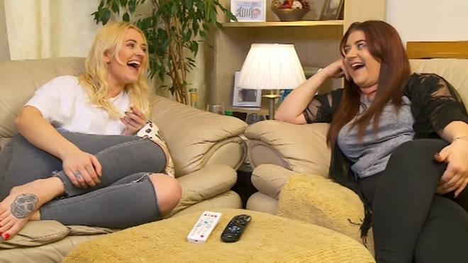 Ellie and Izzi Warner star on Gogglebox