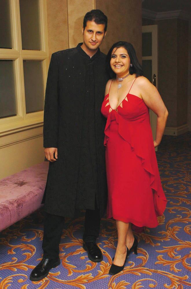 Nina Wadia and her husband Raiomond Mirza