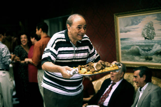 Michael Constantine played overly-protective dad Gus in My Big Fat Greek Wedding