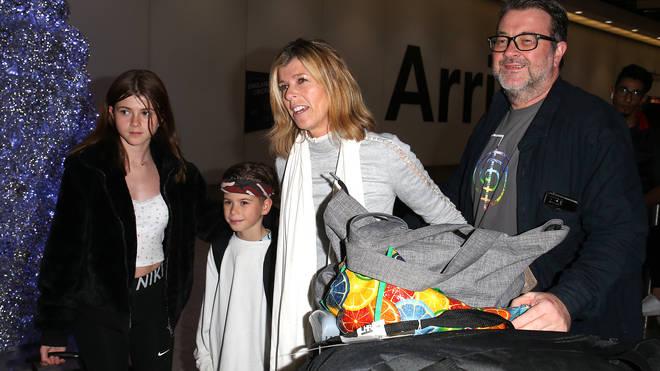 Kate Garraway, her husband Derek and their children