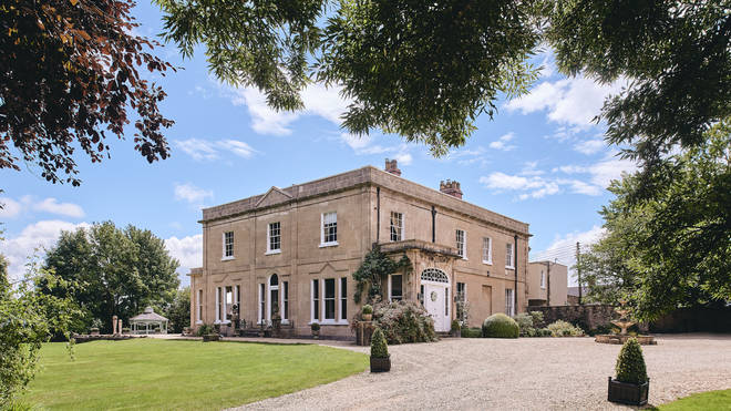 The incredible mansion is in Somerset