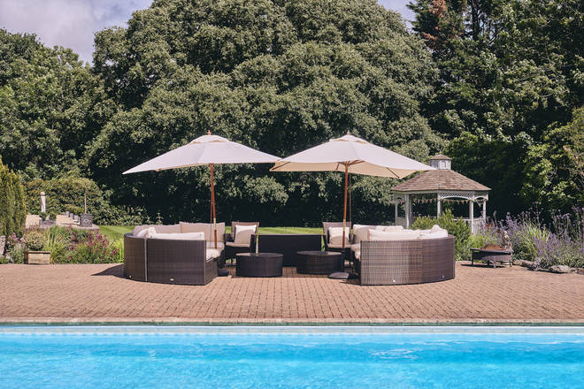The property comes complete with a heated outdoor swimming pool