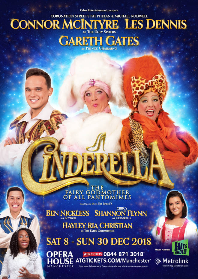 Gareth Gates and Les Dennis star in Cinderella at Manchester Opera House this year