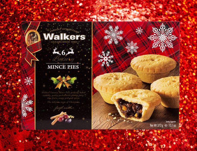 Walkers mince pies are available to buy in W H Smiths