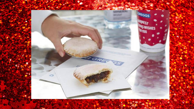 Greggs mince pies are baked fresh in store