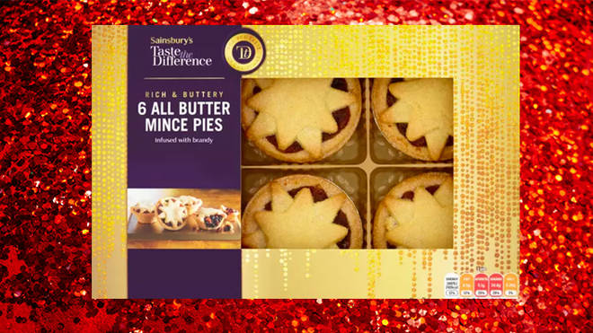 Sainsbury's mince pies are infused with brandy