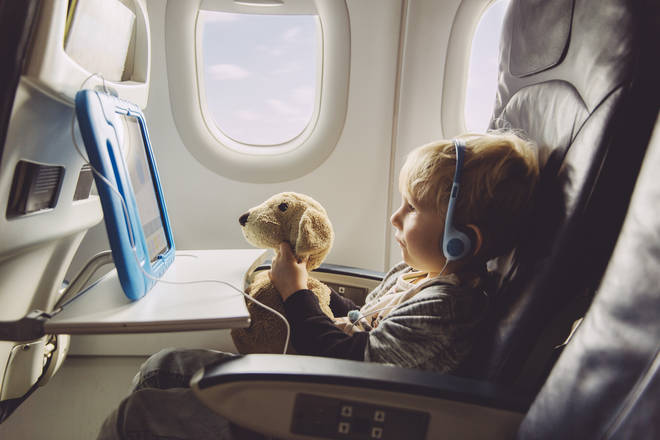 An airline has pointed out where children will be sitting